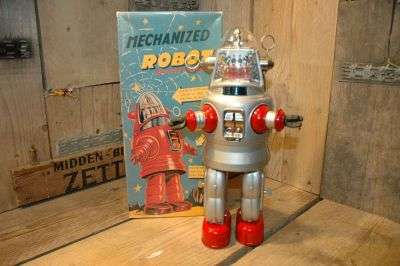 "Osaka Tin Toy Institute - Mechanized Robby Robot   ""Ebay Japan"""
