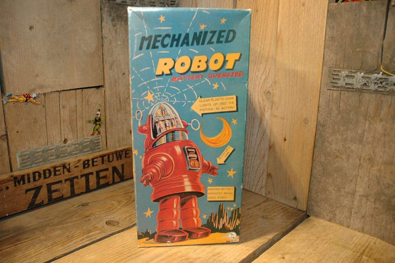 """Osaka Tin Toy Institute - Mechanized Robby Robot  """"Ebay Japan"""""""