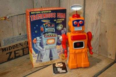 VST - Tremendous Mike 3D Printed Robot Orange Variation