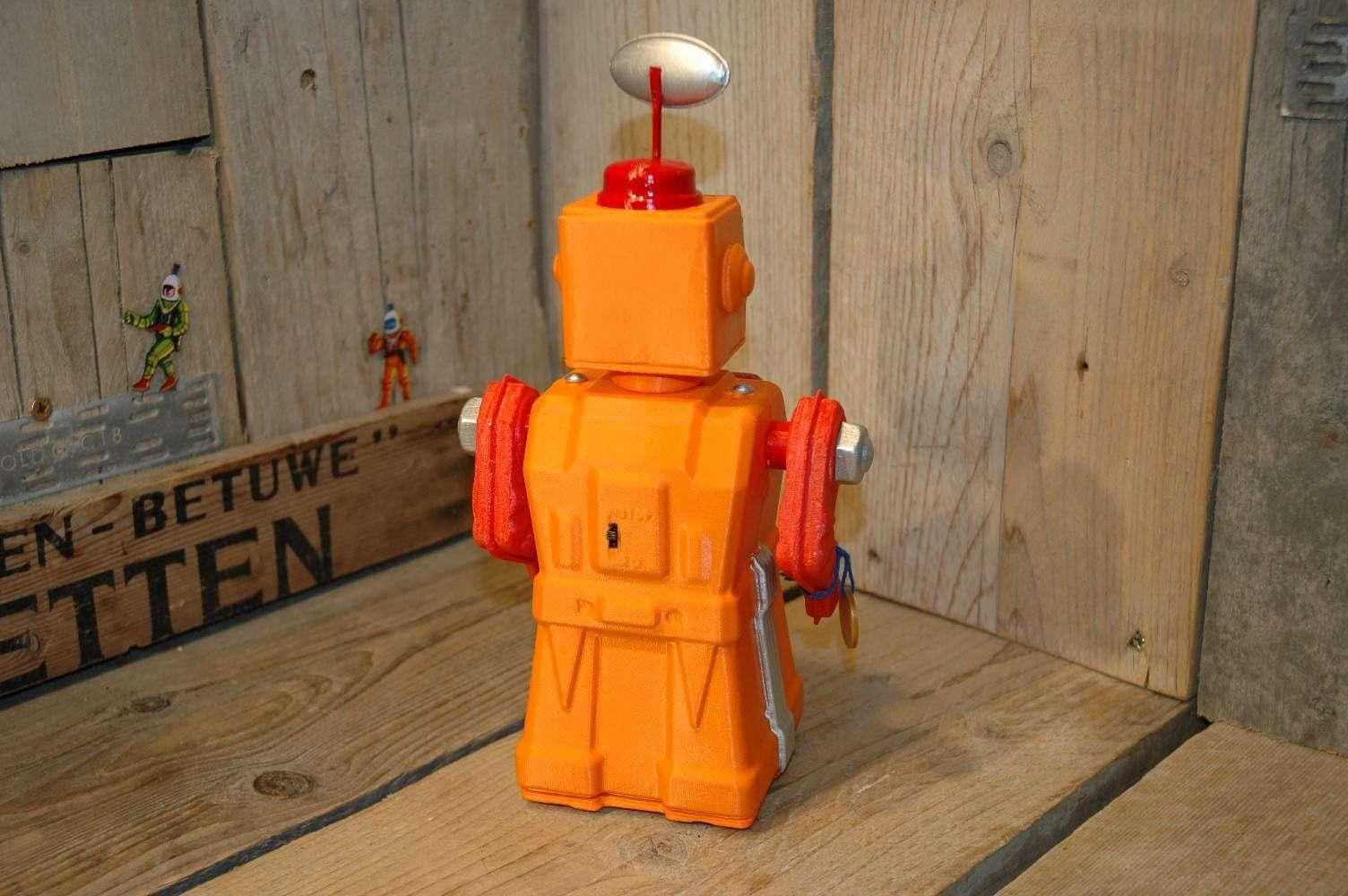VST - Tremendous Mike 3D Printed Robot Orange Variation