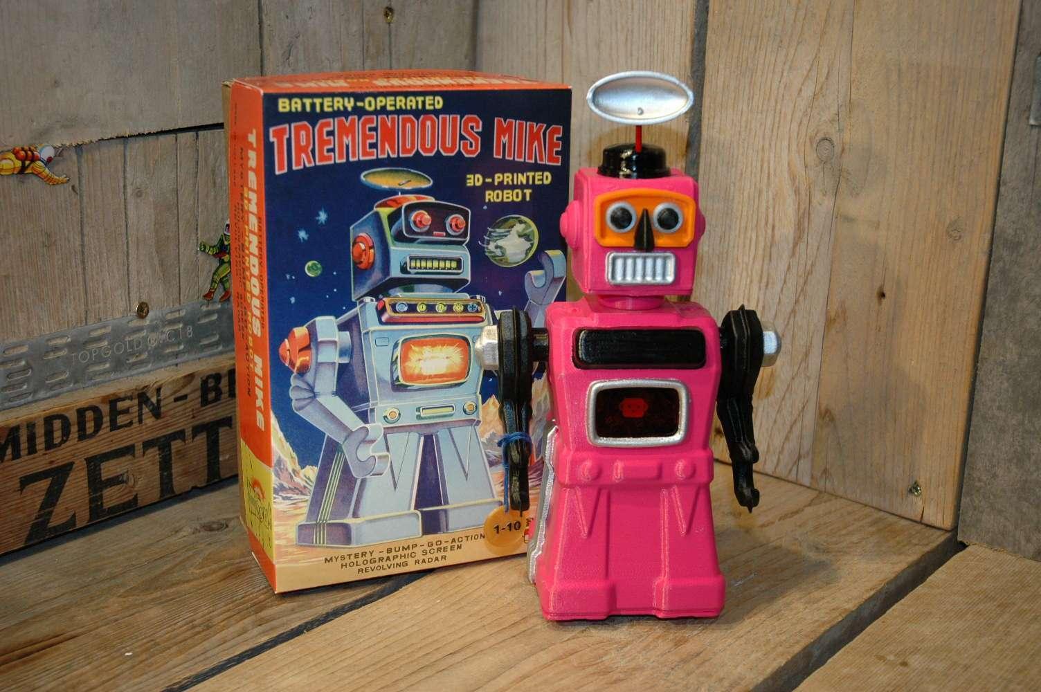 VST – Tremendous Mike 3D Printed Robot Pink Variation