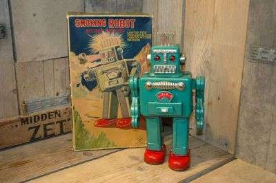 Yonezawa - Smoking Robot Green variation