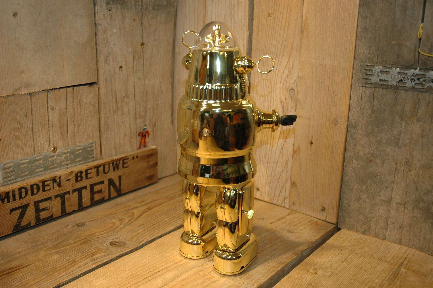 Osaka Tin Toy Institute ( OTTI ) - Mechanized Robby Robot Color Samples / Prototype / Plated Gold