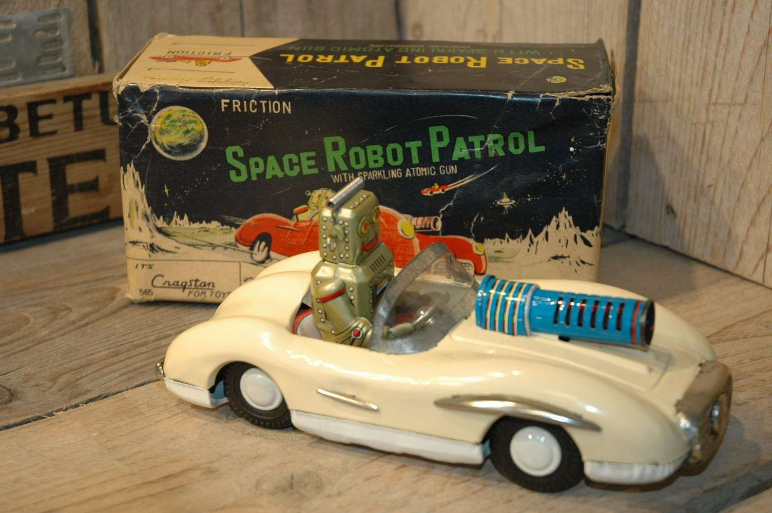 Cragstan / Asahi Toy - Space Robot Car