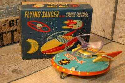 Modern Toys - Flying Saucer with Space Patrol