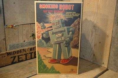 Yonezawa - Smoking Robot Original Box ( 80`s )