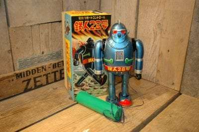 Osaka Tin Toy Institute – Gigantor no.5 Tetsujin 28 Robot Light Blue Variation
