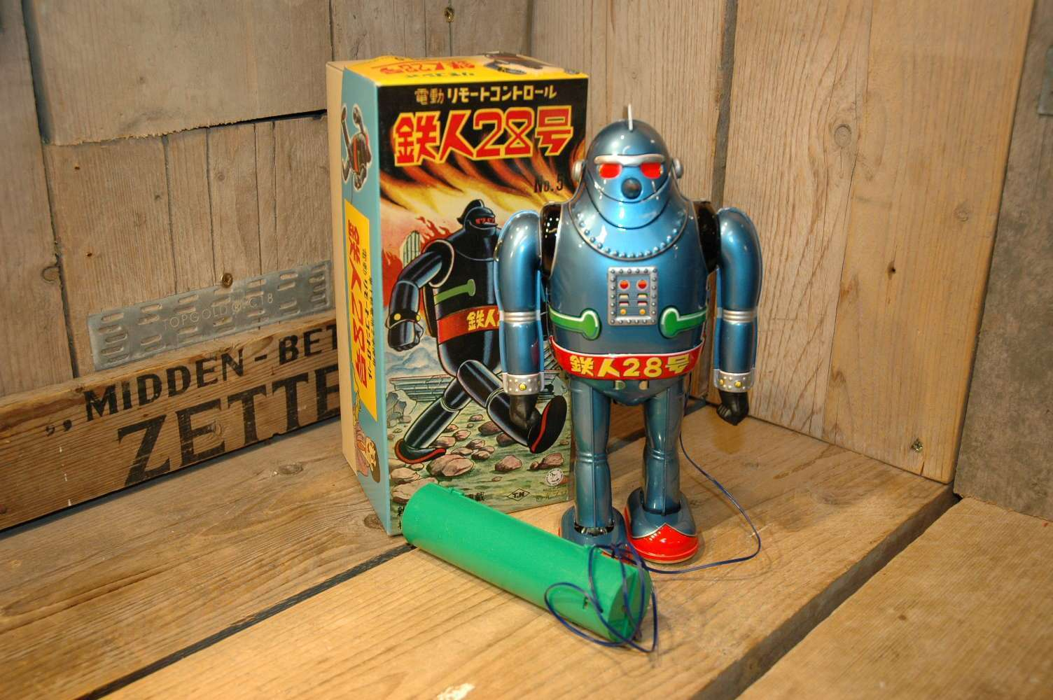 Osaka Tin Toy Institute – Gigantor no.5 Tetsujin 28 Robot Light Blue Variation