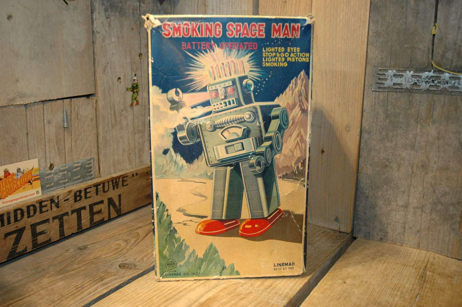 Linemar Toys - Smoking Space Man